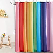 KGORGE Shower Curtain for Bathroom - Farmhouse Shower Curtain Rainbow Stripe Pattern Boho Waterproof Washable Curtain for ...