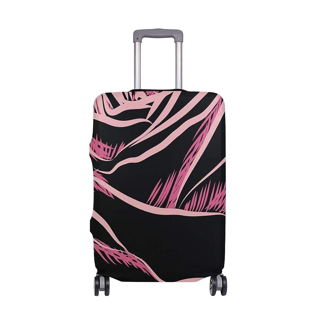 インタラクションサーフィンベスト赤いバラ スーツケースカバー 弾性素材 おしゃれ トラベルダストカバー 傷防止 防塵カバー 洗える 18-32インチの荷物にフィット
