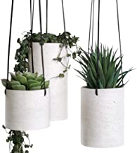 Hanging Planter for Indoor Plants - Set of 3 Ceramic Hanger Planters, Succulent Hanging Plant Pots, Hanging Plant Holders ...