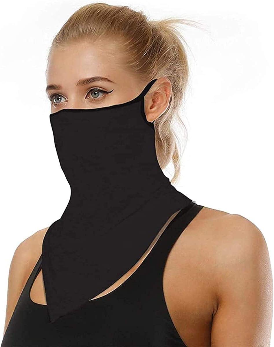 Face Mask Reusable Washable Cloth Bandanas Women Men Neck Gaiter Cover Ear Loops