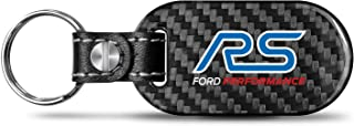 iPick Image - Ford Focus RS Real Black Carbon Fiber Large Dog-Tag Style Key Chain Key-Ring