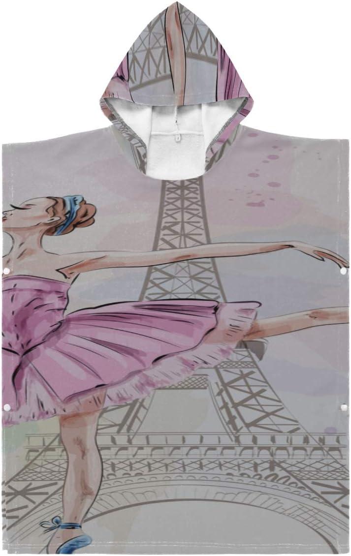 QiyI Poncho mart Beach Fashion Towel Cute Ballerina Dancing Baby