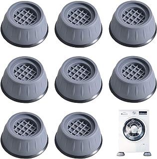 8 Pièces Coussinets Antidérapants en Caoutchouc pour Machine à Laver, Patins Anti Vibration, Tampon Anti Vibration Lave Li...