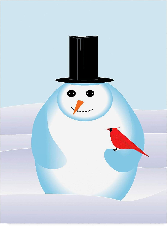 Trademark Fine Art Snowman Modern by Marie Sansone, 14x19