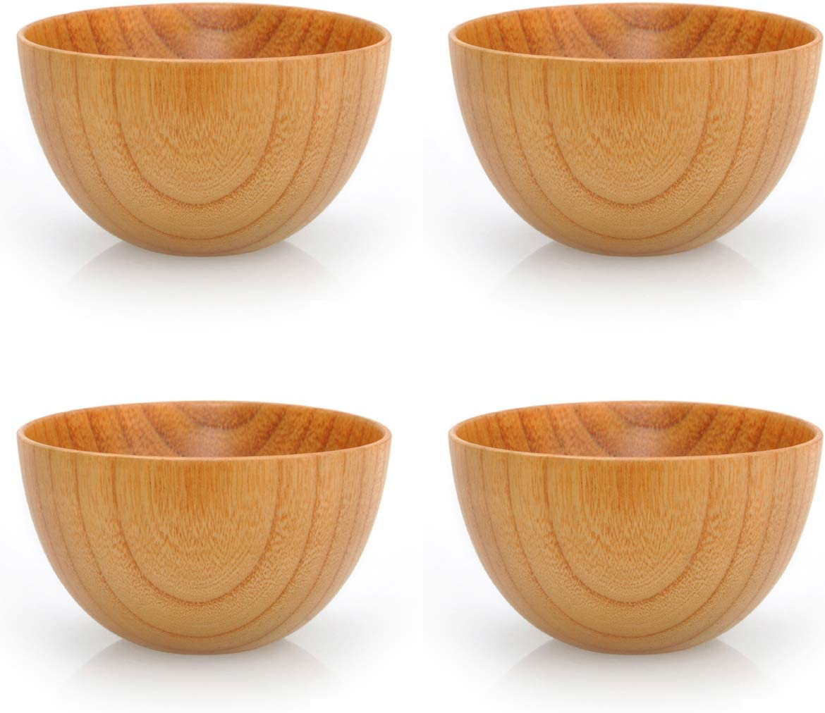 Details about  /Wooden Bowl Japanese Style Wood Rice Soup Bowl Salad Bowl Food Container Large
