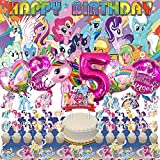 My Little Pony 5th Party Supplies   For Girls   Fifth   Five   Decorations   Birthday   Banner   Backdrop   Balloons   Favors