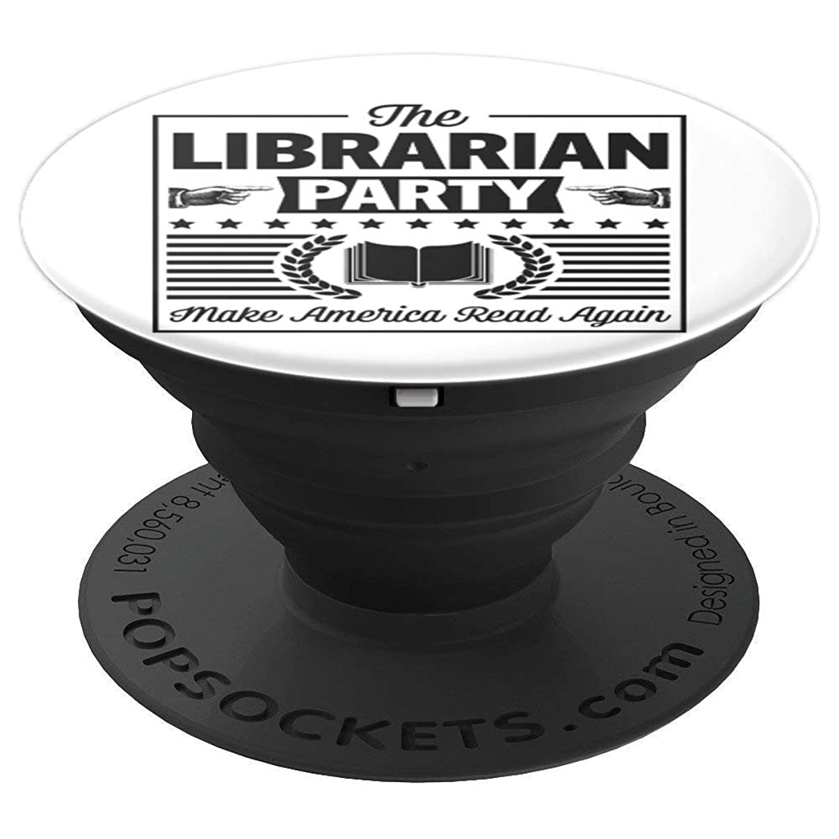 Librarian Party Funny Librarian Reading Gift PopSockets Grip and Stand for Phones and Tablets