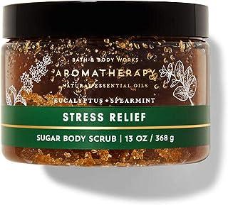 Bath and Body Works Full Size Aromatherapy - Sugar Body Scrub - w/Natural Essential Oils - Stress Relief - Eucalyptus + Sp...
