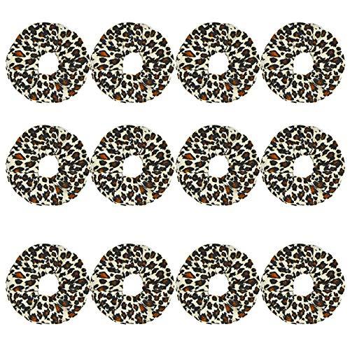 12 pièces/Set Femmes Velvet Scrunchie pack Bandeaux for les filles Couvre-chef Femme Leopard Chouchous Accessoires cheveux Ties (Color : Gray, Size :