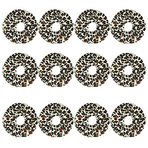 12 pièces/Set Femmes Velvet Scrunchie pack Bandeaux for les filles Couvre-chef Femme Leopard Chouchous Accessoires cheveux Ties (Color : Gray, Size : One Size)