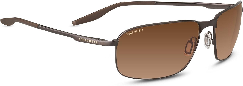 Serengeti Varese 8735 - Brushed Brown, Non Polarized Drivers Gradient Lenses