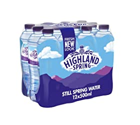 Highland Spring Still Spring Water, 12 x 500ml