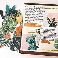 15ピース風広葉緑植物ステッカー工芸品とスクラップブッキングステッカー本子供のおもちゃ装飾ステッカーDIY文房具