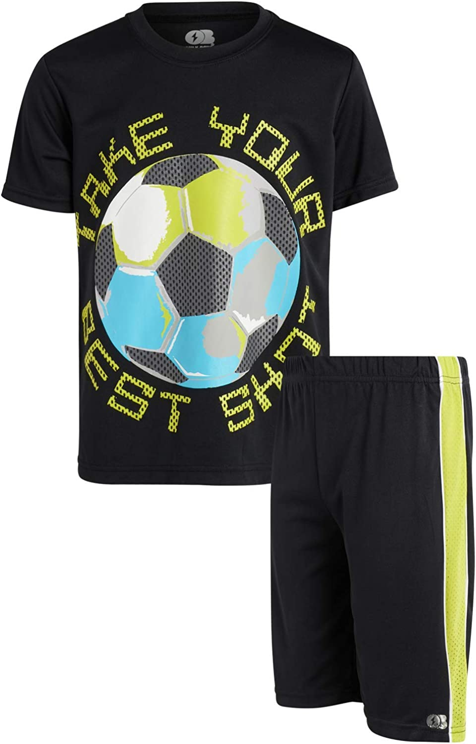 ONLY BOYS Basketball Short Set - 2 Piece Athletic Tee Shirt and Short Sets