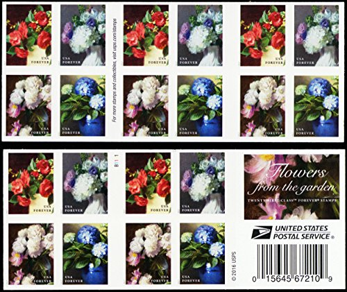 2017 Flowers from The Garden Twenty Forever Stamps Booklet by USPS