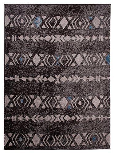 Carpeto Rugs UK Grand Tapis De Salon - Gris Bleu - Parfait pour La Chambre - Design Moderne - Motif Berbère - Plusieurs Coloris & Tailles Nebraska 160 x 220 cm