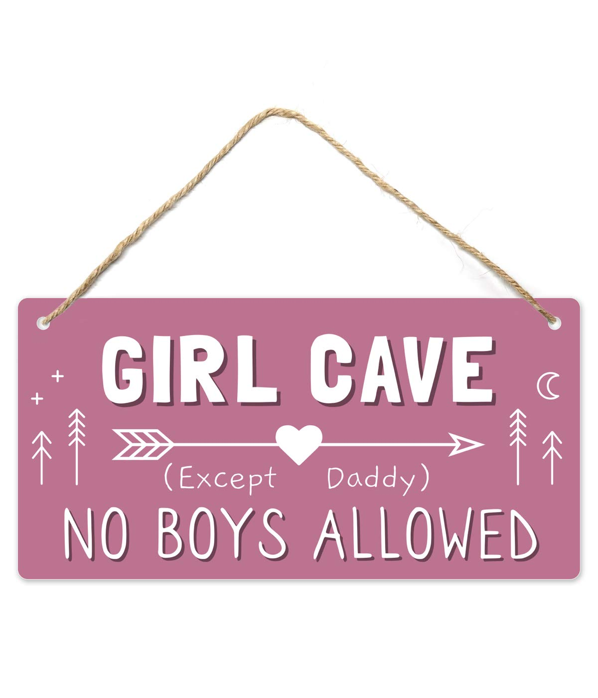 Girl Cave Sign gift Girls Room Decorations 12?x6? for P Superior PVC Bedroom