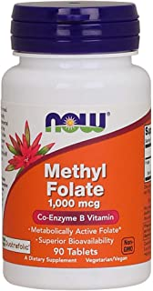Now Foods Methyl Folate, 1000 mcg, 90 Tablets