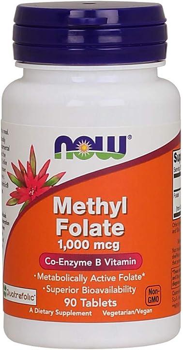 Metile folato 90 capsule - 90 g  now 1000mcg 0491