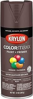 Krylon K05569007 COLORmaxx Spray Paint, Aerosol, Leather Brown