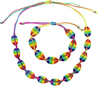ZDU Cowrie Shell Choker Necklace Handmade Adjustable Seashell Beads Beach Boho Cord Necklace Bracelet for Women Seashell Strand Bracelets Summer Hawaiian Jewelry Set