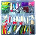 Fishing Lure Set Kit Lots With Tackle Box,LifeVC Fishing Lures Baits Tackle Set For Freshwater Trout Bass Salmon