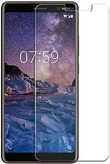 غطاء حماية لشاشة هاتف نوكيا 7 بلس بدون نقوش، لون شفاف