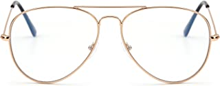Bloqueo de Luz Azul Gafas de Lectura Ordenador,Estilo de Retro Aviador Reducir Fatiga Visual Anti Deslumbramiento Lente Claro Vídeo Anteojos Hombre Mujer