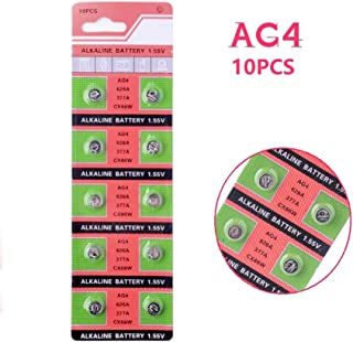 Cotchear AG4 (1.5V) Alkaline Batteries Coin Button Cell Watch Battery [10 pcs-Pack]