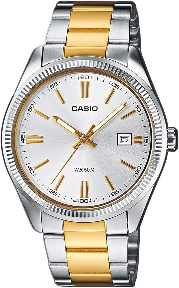 Casio, orologio da uomo,in acciaio inossidabile bicolore MTP-1302PSG-7AVEF