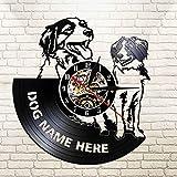 FDGFDG Kooikerhondje Corte Longplay Clock Nederlandse Perro Raza iluminación LED Mesa de Pared pequeña Mascota Propietario decoración del hogar