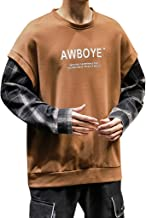 Opinionated Autumn and Winter Sweater Men's Retro Plaid Pullover Sweater Loose Casual Trend O-Neck Sweater