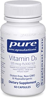 Pure Encapsulations - Vitamin D3 125 mcg (5,000 IU) - Hypoallergenic Support for Bone, Breast, Prostate, Cardiovascular, C...