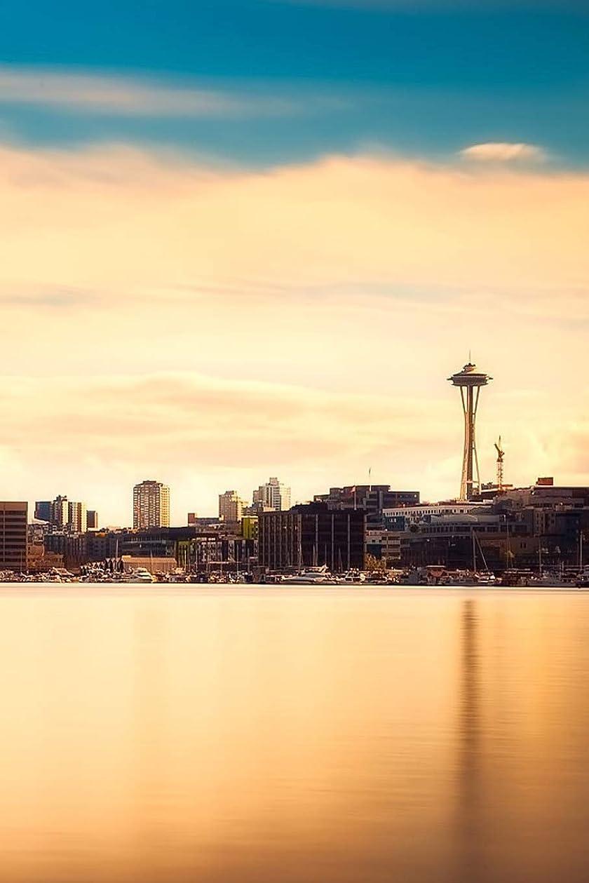 ベテランわな自転車Seattle Skyline with the Space Needle: 150 page lined 6 x 9 notebook/diary/journal