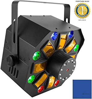 Chauvet DJ Swarm Wash FX 4-in-1 DJ Light with RGBAW Rotating Derby, RGB+UV Wash, Ring of White SMD Strobes and 1 Year Free Extended Warranty
