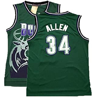 Men's Ray Jersey Milwaukee 34 Jersey Allen Basketball Jerseys Green(S-XXL)