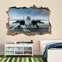 Tatuaje de pared en 105D Avión agujero de la pared Sticker Pegatina Adhesivo Calcomanía Decoración para dormitorio o la sa...