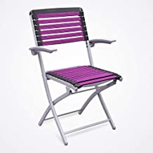 Folding Chairs Household Chairs Chess Chairs Office Folding Chairs Student Chairs (Color : Purple)