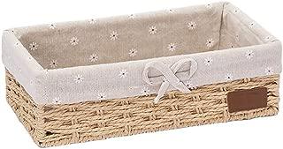 TIANLONG Storage basket Dirty Clothes Storage Basket Imitation Rattan Basket Fabric Desktop Storage Box  Size