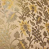Textile Station AM-09 Brokatstoff, florales Muster,