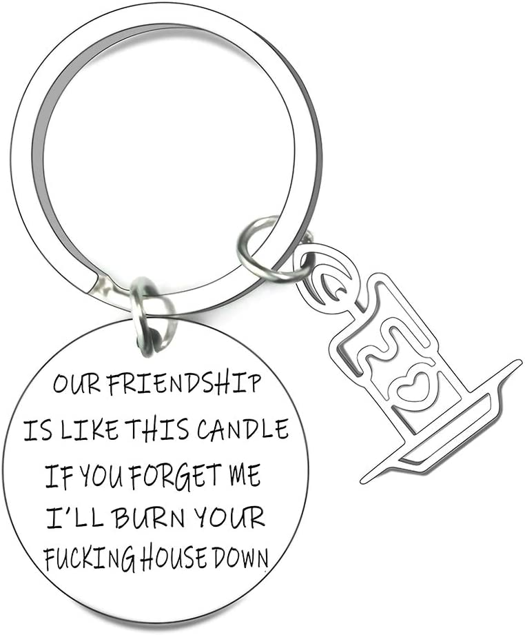 Best Friend Gift Keychain for Women Men Teen Girls Long Distance Friendship Going Away Compass Gifts Keyring Jewelry Birthday BFF Jewelry