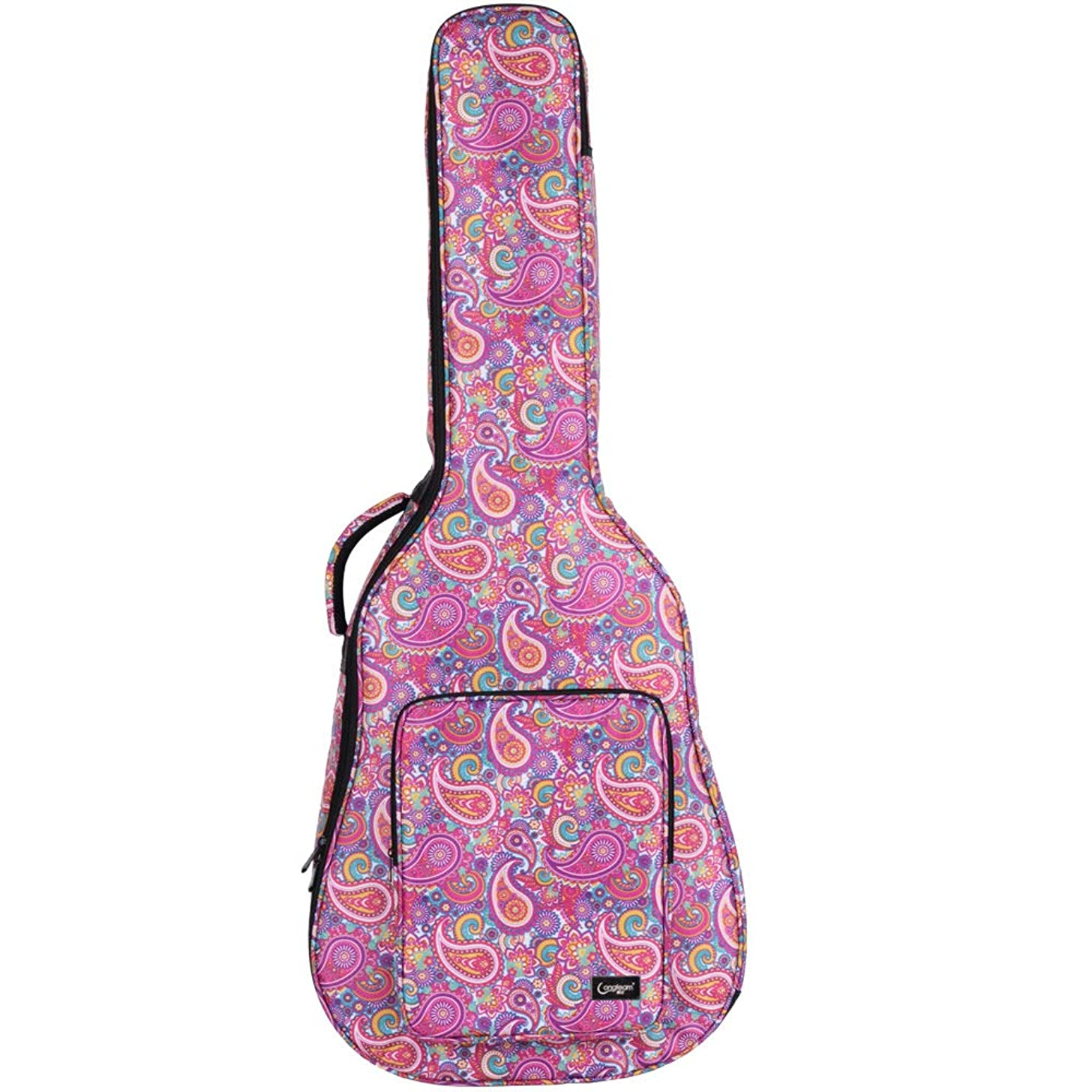 Acoustic Guitar Bags & Cases 40/41 inch Guitar Case (Red, Blue and Black Multicolor Camouflage)
