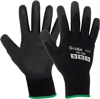 12pares de guantes de nailon SBS, talla 7hasta