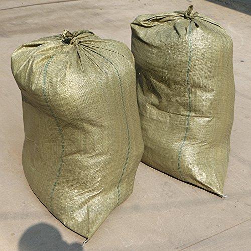 SOOMJ 強力土のう袋 土嚢袋 珪藻土袋 (土納袋・どのう袋・土のう袋) 輸入備蓄用 (80cm×120cm, 20枚セット)