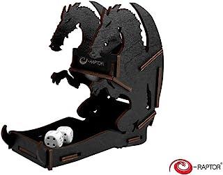 e-Raptor ERA19040 - Gioco da tavolo a forma di drago, con piccoli dadi, colore: Nero