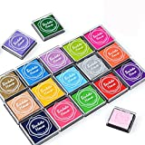 Txyk 20 Colores Rainbow Finger Ink Pad para niños Craft Ink Pad Sellos Partner DIY Color 4 * 4 cm