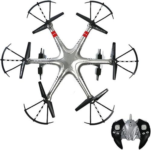 Drone Avec Caméra HD 2.4 GHz 6 Axes Gyro Quadcopter 4CH Télécomhommede Hélicoptère Un Bouton Décollage Atterrissage Un Bouton 360 ° Basculer Drone Hauteur Tenir Stable Super Facile Fly Pour La Formation