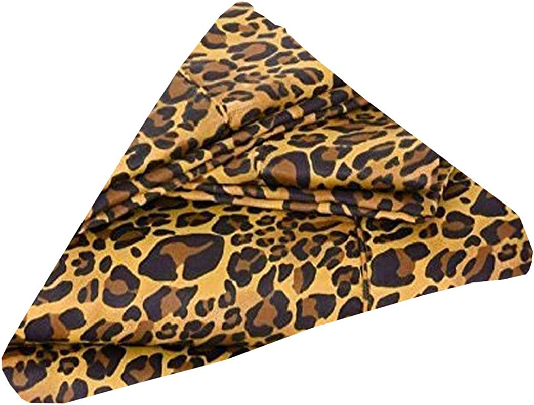 Cotton Napkins Pack Of 10 18 X 18 Inch Cloth Dinner Table Napkins Machine Washable Restaurant Wedding Hotel Quality And Regular Home Use 100 Cotton Fabric Leopard Print