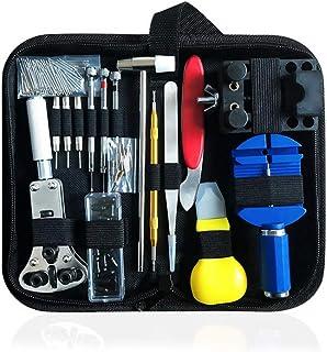 BEYAOBN 151PCS Kit de réparation de Montre,Ensemble Professionnel d'outils de Barre de Ressort,Ensemble d'outils de Broche...
