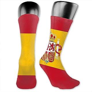 Calcetines deportivos para hombres Mujeres España Bandera Calcetines deportivos altos 30cm